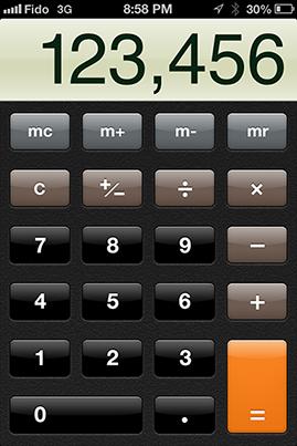 calculadora eskeumorfica